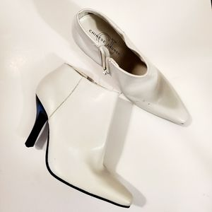 Chinese Laundry White & Black Ankle Booties